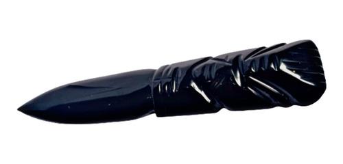 Imagen 1 de 5 de Cuchillo Daga De Obsidiana Ideal Para Magia, Para Cortar