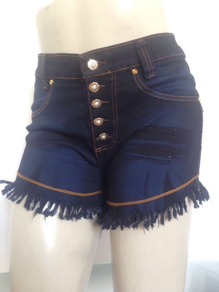 Short Jeans Estilo Pit Bull Com Lycra