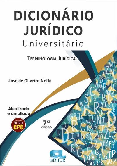 Dicionário Jurídico Universitário 7ª Edição