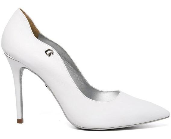 Sapato Carmen Steffans Noiva Scarpin Branco Salto Alto Fino