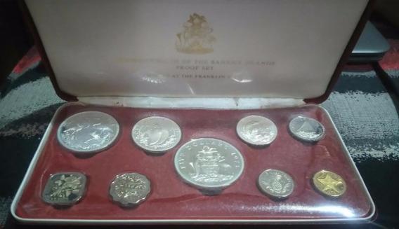 Set De Monedas Proof De Plata De Bahama Islands Certificado