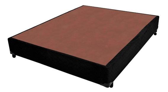 Cama Box Base Simples Casal 138x188x28 (somos Fabricante)
