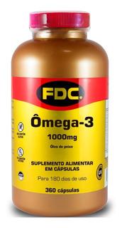 Omega 3 Fdc 360 Caps 1000 Mg Fish Oil Importado Purificado