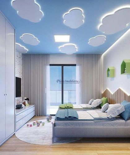 Imagem 1 de 30 de Apartamento Com 3 Dormitórios Sendo 3 Suítes, À Venda, 109 M² Por R$ 669.817 - Guilhermina - Praia Grande/sp - Ap0977