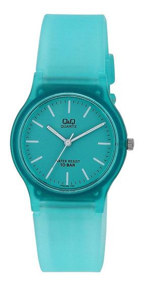 Relógio Infantil Verde Água Q&q Prova D