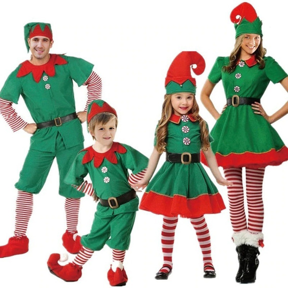 Disfraz De Duende, Elfo, Navidad, Festival Navideño Niño