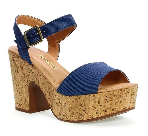 Sandália Feminina Karuna Jeans Azul Dakota