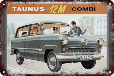 Poster Carteles Antiguos Chapa 60x40cm Ford Taunus Au-084