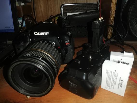 Canon T3i Lente Tamron 17 50 Grip 2 Baterias Cargador