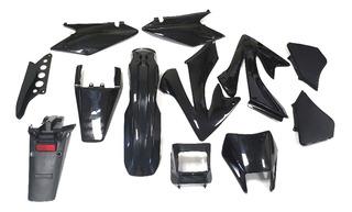 Kit Plasticos Honda Xr 250 Tornado Negro (9 Pzas) Jrs