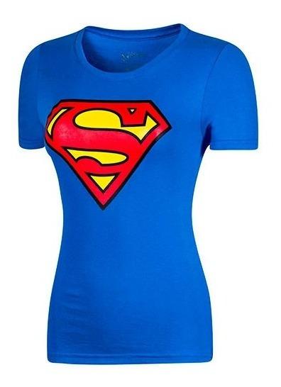 Playera Dama Super Man Ltx 401amjl017wb Azul 082-002 T5
