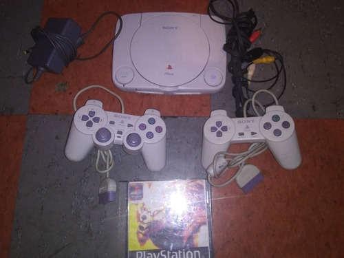 Consola Play Station One Psone Chipeado Con Todo.