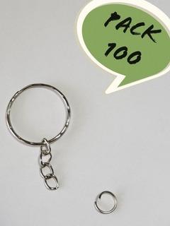 Pack 100 Argollas Llavero