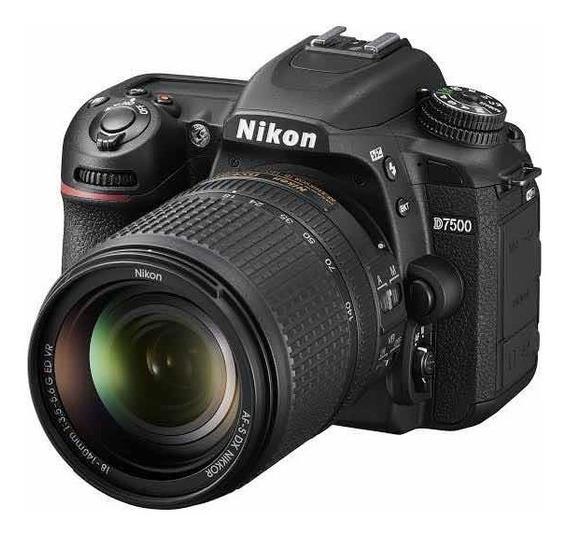 Câmera Nikon D7500 Kit Lente 18-140mm F/3.5-5.6 Ed Vr