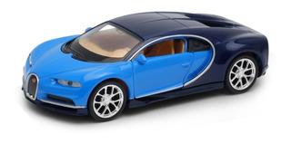 Welly 1:34 Bugatti Chiron Celeste C/negro 43738cw E.full