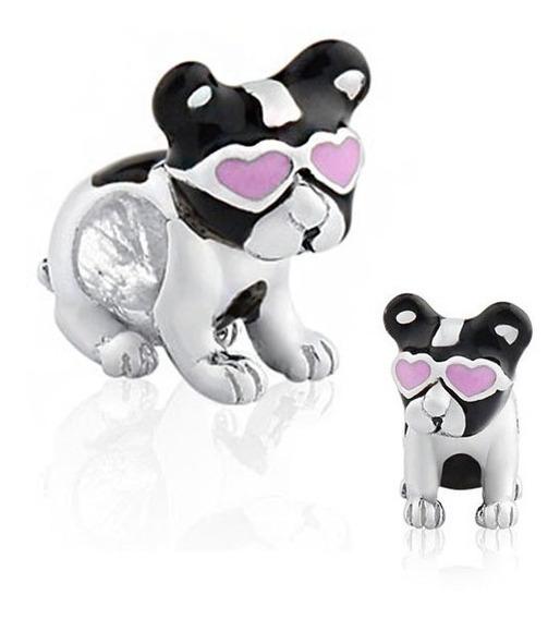 Berloque Pet Bulldog Charm Banho De Prata 925 Para Pulseira Pandora E Vivara Life