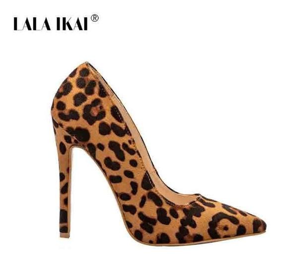 Scarpin Leopardo De Salto Alto