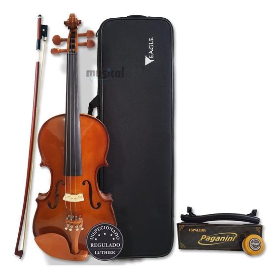 Violino Eagle 4/4 Ve441 + Case + Breu + Arco E Espaleira