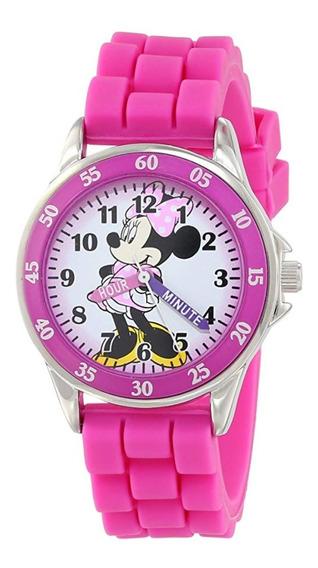 Disney Reloj De Mano Minnie Mouse Mimi Rosa Niña Regalo