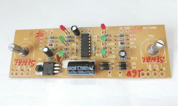 Placa Do Vu Do Amplificador Mark Audio Modelo Mk 1200