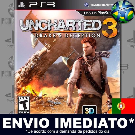 Uncharted 3 Drakes Deception Ps3 Psn Jogo Em Promoção