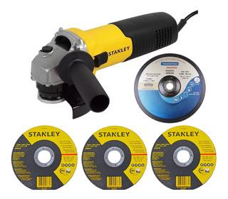 Esmerilhadeira Angular 4.1/2 600w Stgs6115 Stanley + Brindes