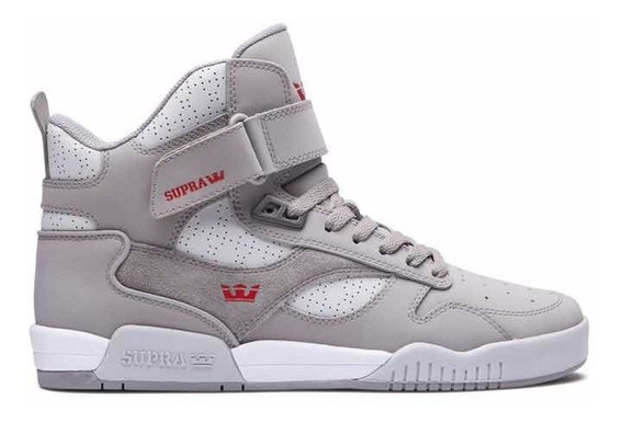Supra Tenis Bleeker Grey Leather 08093-020 Botas Skate