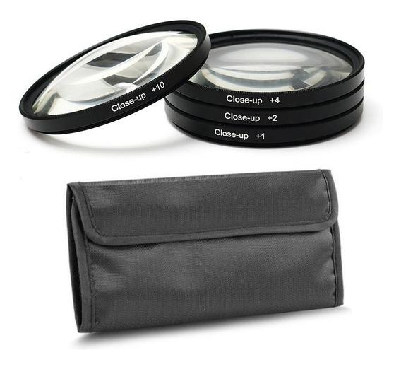 Filtro Close Up Kit 58mm Fotobestway +1 +2 +4 +10 C/estojo