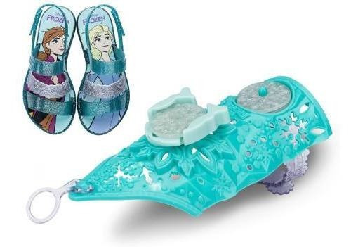 Sandalia Infantil Feminina Frozen Snow Power + Bracelete