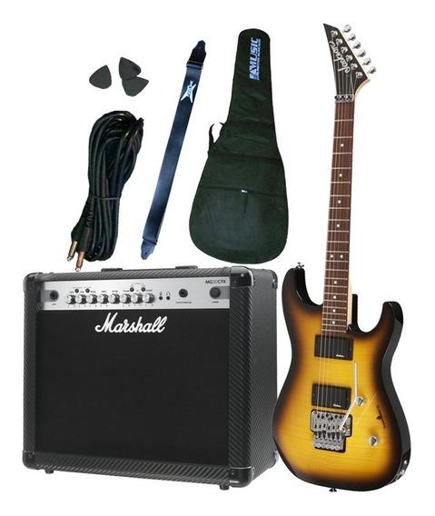 Combo Guitarra Jackson + Amplificador Marshall Mg30cfx