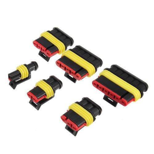 Conector Electrico Impermeable Kit 1//2//3//4 Pines R/ápido Enchufe Terminal para Coche Moto Scooter Barco 352 Piezas