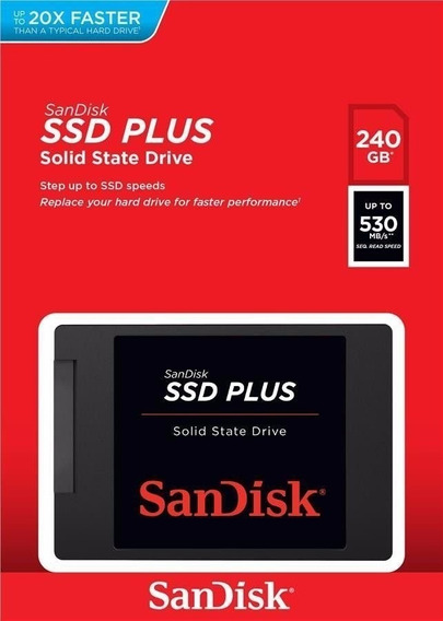 Hd Ssd Sandisk Plus 240gb Sata 3 530mb/s - Original