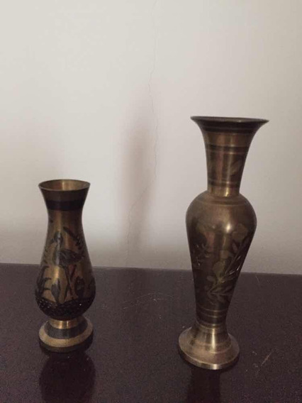 Vasos De Metal Dourado Envelhecido