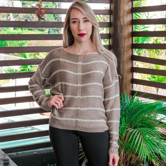 Blusa De Frio Feminina Outono Inverno Fashion M Marrom