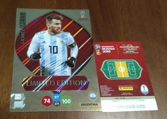 Card Xxl Messi Adrenalyn Fifa Russia 2018