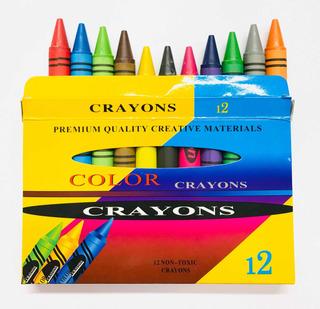 Paquete De 10 Cajas De Crayón Jumbo De Cera No Tóxico 12 Pcs