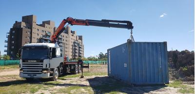 Camion Con Hidrogrua ,traslados De Containers De 6 Metros