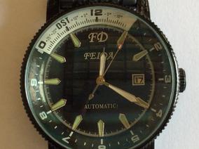 Relógio Feida Automático Todo Negro Lindão Com Caixa De 40mm