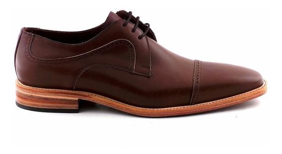 Zapato Cuero Hombre Vestir Briganti Acordonado Hcac00855 2