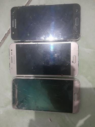 Lote 3 Celulares 2 Samsung J5 2015 1 J3 2016 Com Defeitos