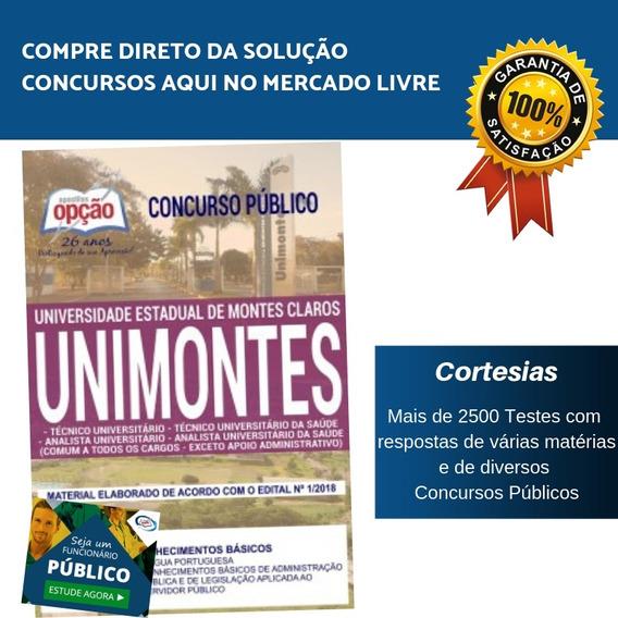 Apostila Unimontes 2019 - Técnico Universitário Da Saúde