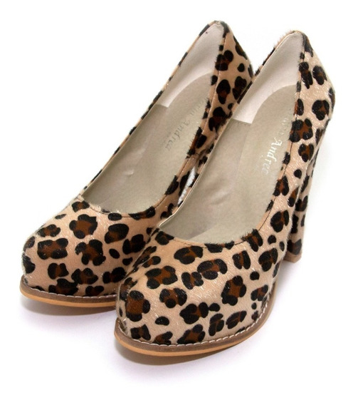 Zapatos Stiletto Animal Print Class Express Art. 1625vp