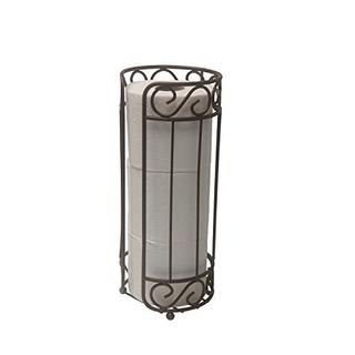 Home Basics Th10661 Porta Papel Higienico Acabado En Bronce
