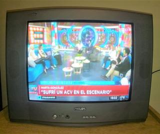 Philips Televisor 21 Color C/control Buen Funcionamiento!
