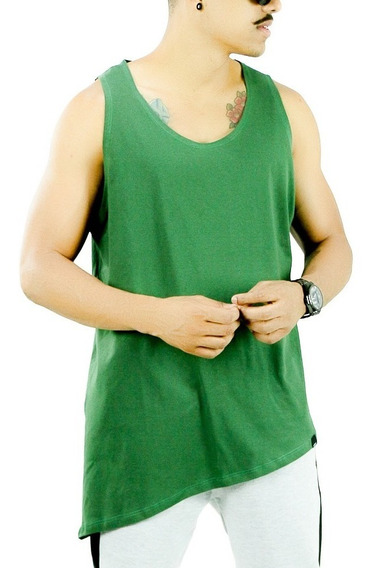 Regata Longline Oversized Masculina Lateral Camisa Meio Swag