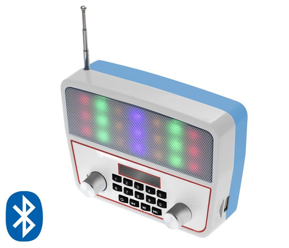 Kit 2 Caixa Som Portátil Ws-1813 Bluetooth Usb Mp3 Radio Fm