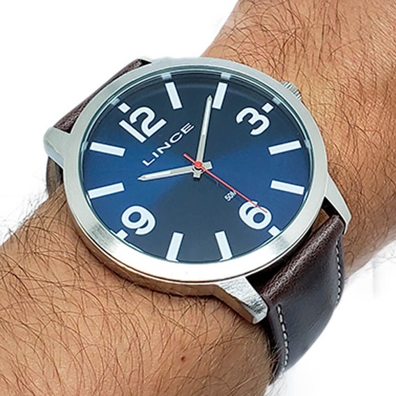 Relógio Masculino Lince Mrc4540l Kv77 Nota Fiscal Brinde