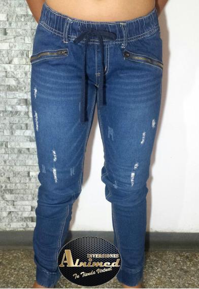Pantalon Jean De Dama Tipo Jogger Talla M 20$(inv Alnimed)