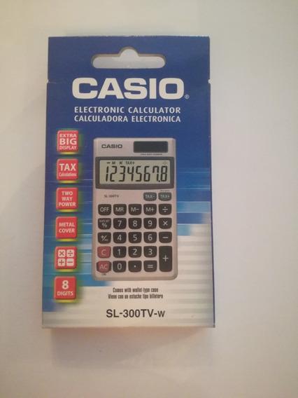Calcuradora Casio 8 Digitos Sl-300tv-w