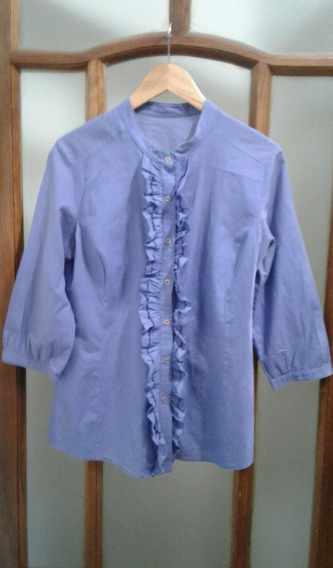 Camisa Mujer Con Shabot T L